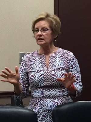 Indiana Secretary of State Connie Lawson spoke at the Wayne County Area Chamber of Commerce Monday.