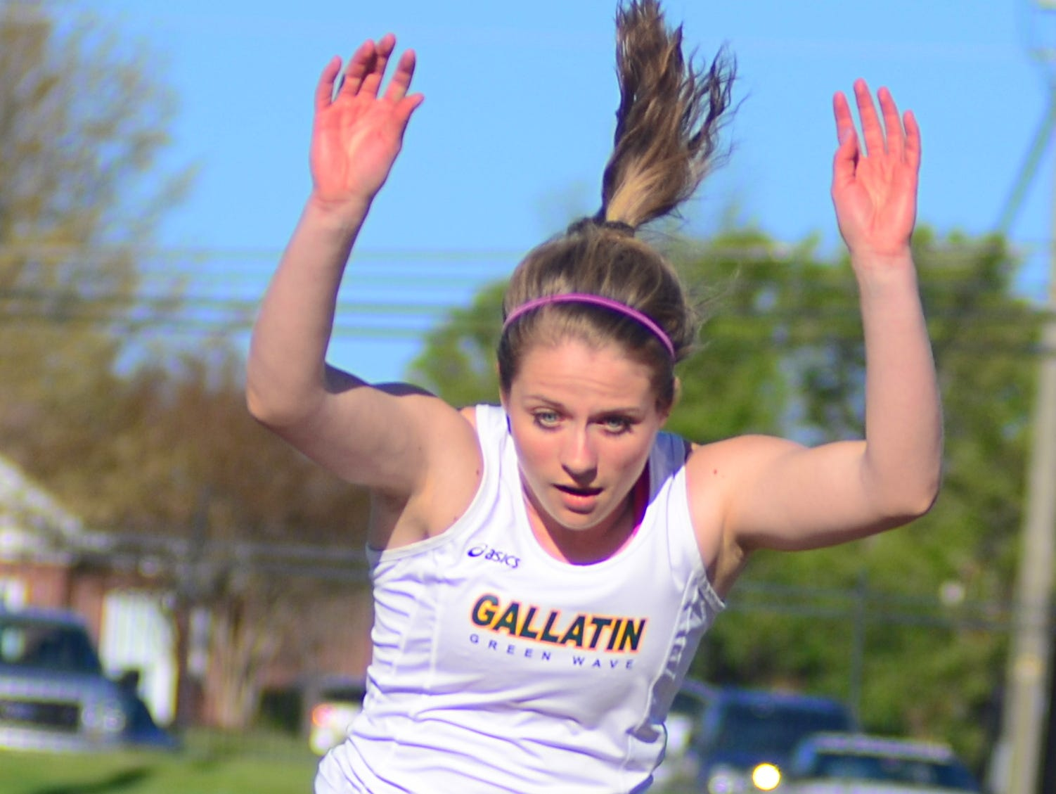 Gallatin High senior Kelsey Warren won the girls' long jump (16 feet, 1.5 inches) and triple jump (32 feet, 9 inches) events.