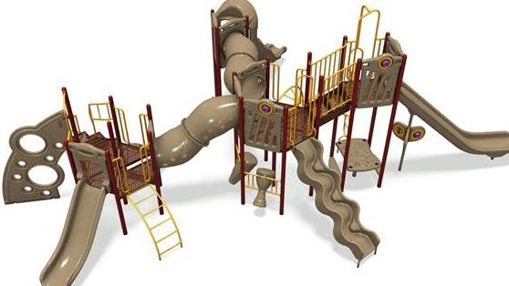 An artist's rendering of what State Road School's new playground will look like. (Provided)