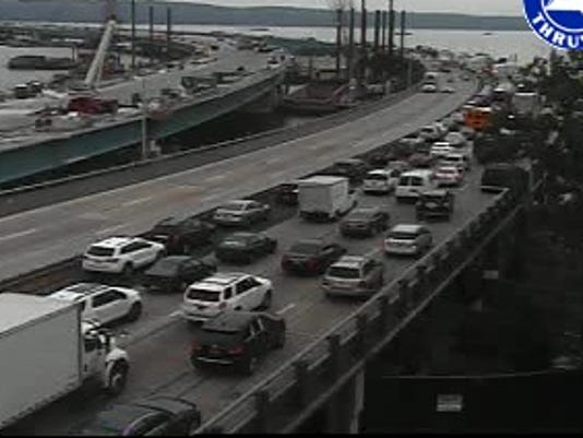 I-87 traffic at Tappan Zee Bridge