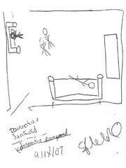 davontaes drawing of the crime scene