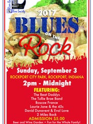 Blues on the Rock is Sunday from 2 p.m. to midnight.