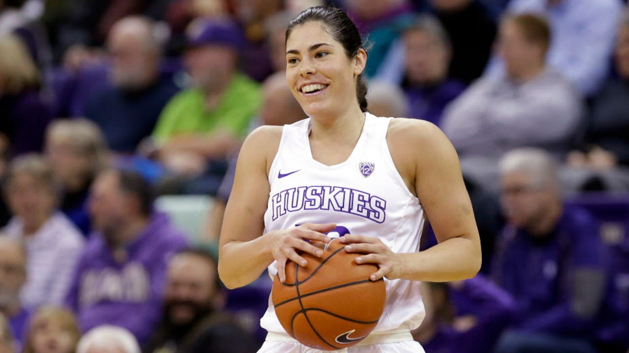 Washington's Kelsey Plum is closing in on Jackie Stiles' career scoring record set in 2001.