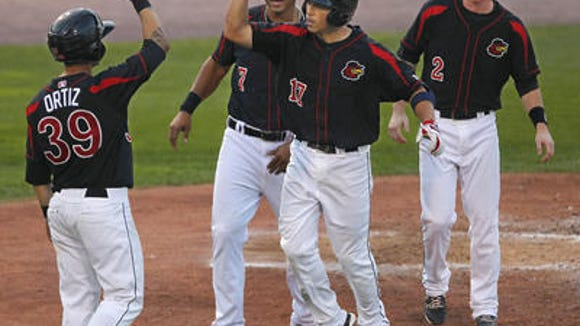 There have been many happy moments at home plate for Doug Bernier and Co. this year. But will there be enough to earn a playoff berth?