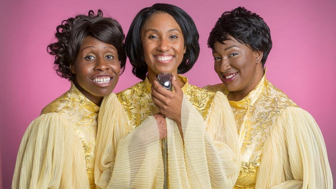 """From left, Lormarev Jones, Sharisse Vernelle Santos and Tia Seay play the original members of The Dreams, a fictitious 1960s singing trio whose story is told in """"Dreamgirls."""" The show runs Aug. 11-26 at The Carnegie, 1028 Scott Blvd. in Covington."""