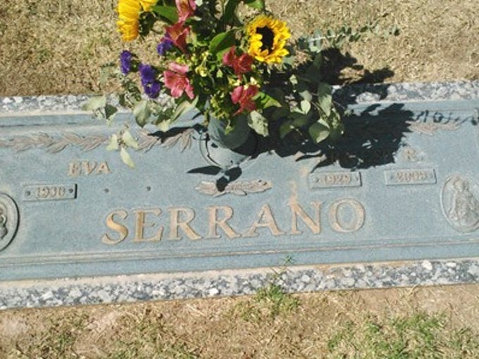 Ernest Serrano, who is buried at Valley of the Sun