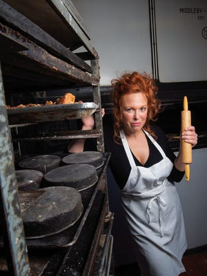 Broadway actress and Tony nominee Carolee Carmello plays Mrs. Lovett in the production of Sweeney Todd at The Barrow Street Theatre in New York City.