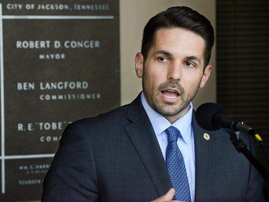 Former Jackson City Councilman Scott Conger announced,