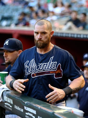 Outfielder Jonny Gomes was acquired by the Kansas City Royals in a trade on Monday.