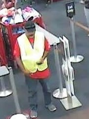 A man wearing a traffic safety vest robbed a bank branch Saturday inside the Food King in Socorro.