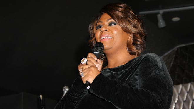 Kim Burrell performs during For the Love of R&B - A Tribute to Whitney Houston at Tru Hollywood on Feb. 7, 2013, in Los Angeles.