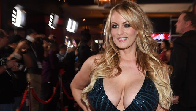 Stormy Daniels attends the 2018 Adult Video News Awards at the Hard Rock Hotel & Casino on Jan. 27, 2018, in Las Vegas.