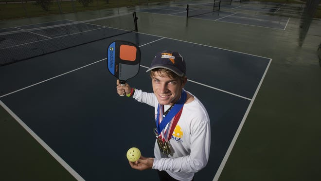 Fort Myers resident Kyle Yates, seen last year, is participating in the U.S. Open Pickleball Challenge, which starts Wednesday in Naples.