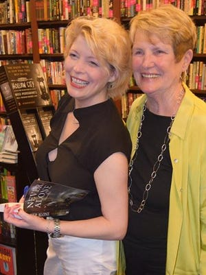 "Horseheads native C.J. (Connie) Carpenter, left, with her mother Mary Ellen Carpenter, during a launch party for C.J.'s suspense thriller, ""Never Alone."" C.J. will be at Barnes & Noble in Big Flats on Saturday for a book signing."