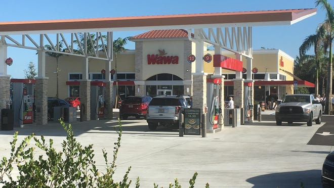Wawa opened its ninth store in Palm Beach County Thursday at the Cobblestone shopping complex west of Boynton Beach.