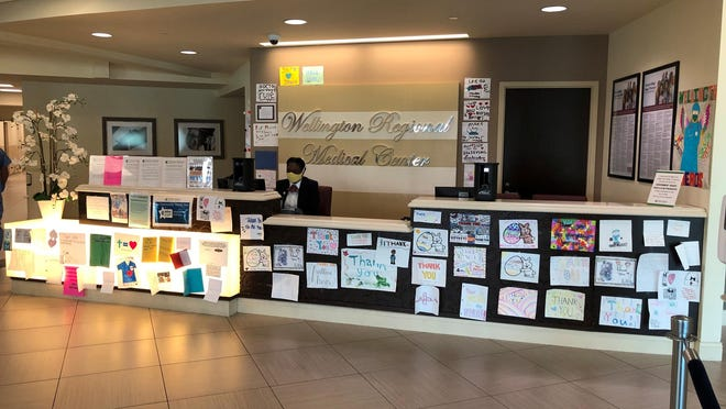 Schaefer Drugs in Wellington has been collecting thank-you notes and drawings for Wellington Regional Medical Center. Now the program is set to expand with a boost from the village and the Neil S. Hirsch Boys and Girls Club.