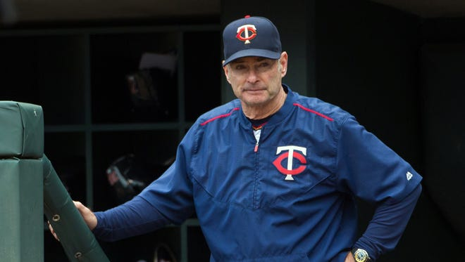 Sep 25, 2016; Minneapolis, MN, USA; Minnesota Twins manager Paul Molitor in the second inning against the Seattle Mariners at Target Field.
