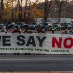 Opponents of the Algonquin pipeline expansion gather to try to stop the project.
