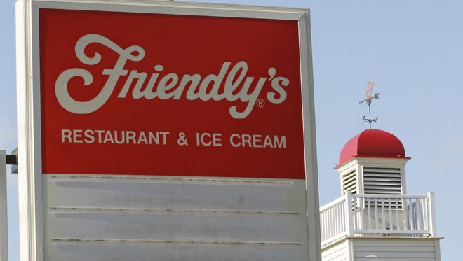 An empty sign is posted at a Friendly's restaurant in Foxborough, Mass.,