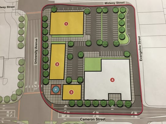 The corner of University and Cameron Street could include
