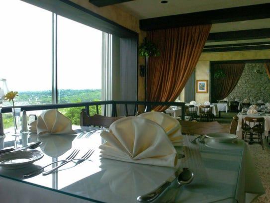 A shot of dinning area at the Primavista restaurant.