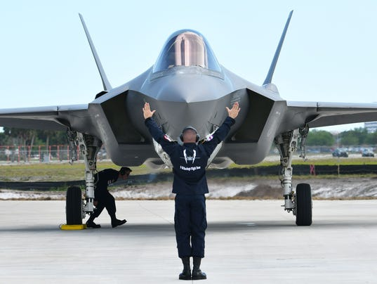F-35 Fighters aircraft at airport