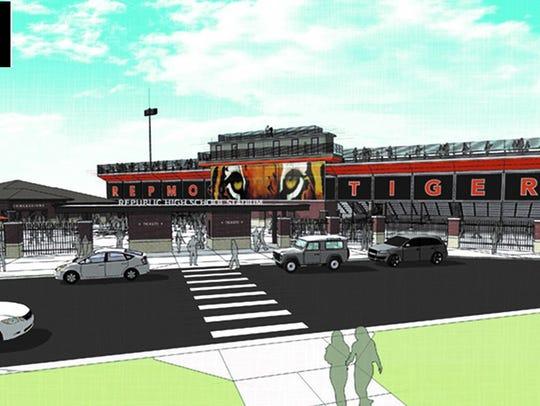 Artist rendering of proposed Republic High School athletic