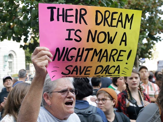 Judy Weatherly, a supporter of the Deferred Action