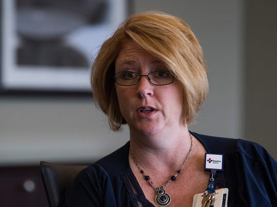 Baptist South Chief Operating Officer Ginger Henry discusses the need for nurses in the health care industry the hospital in Montgomery, Ala. on Thursday May 31, 2018.