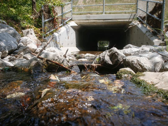 Updates have been made recently at a culvert on 30th