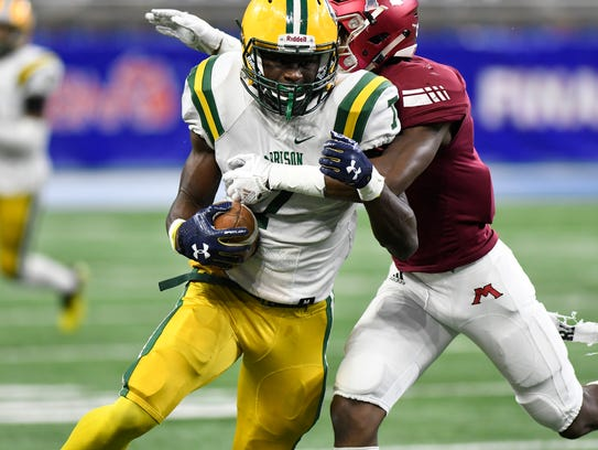 Farmington Hills Harrison linebacker Ovie Oghoufo made