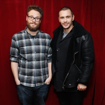Seth Rogen and James Franco visit the SiriusXM Studios