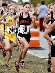Brighton's Andrea Crowe runs to a 33rd-place finish