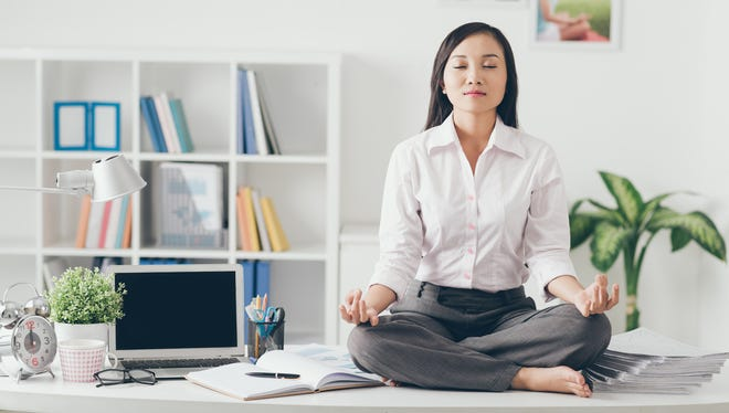 Reducing stress at work can be a free health fix.