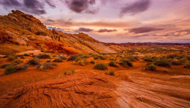 The pretty desert scenery of Red Rock Canyon is close to Las Vegas.
