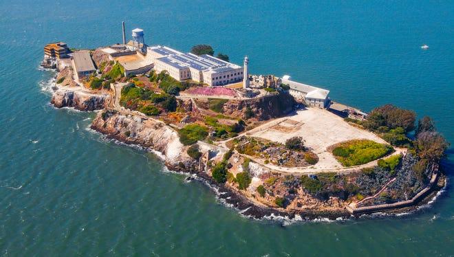 Alcatraz Island in San Francisco Bay.
