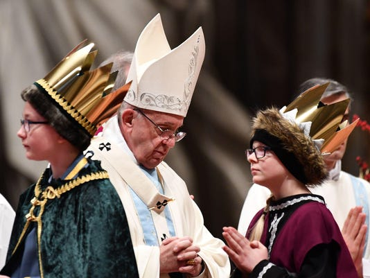 VATICAN-POPE-MASS-NEW-YEAR