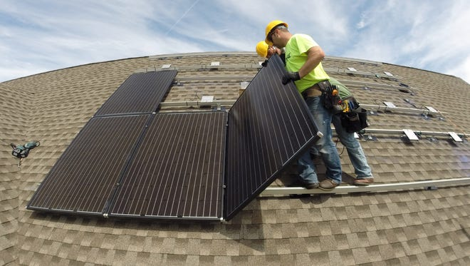Supporting new, clean-energy technology such as solar panels is good for the economy as well as people's health, a writer says.