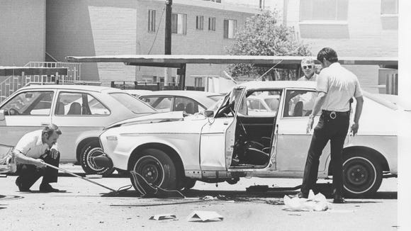 A view of the Don Bolles murder scene June 2, 1976.