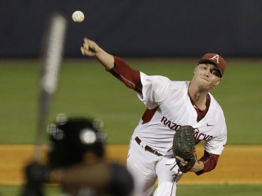 Mountain Home High grad Trey Killian gets the crucial Game 1 start for Arkansas against Missouri State on Friday. Killian enters 2-4 with a 4.76 ERA.