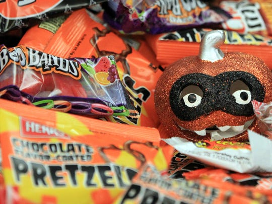 Various Halloween treats are pictured Monday, October 13, 2014, at The Advertiser.