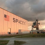 Space Notebook: SpaceX launch from KSC, SLS platforms installed