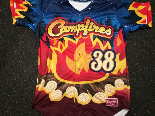 Campfires jerseys that will be worn for the July 29