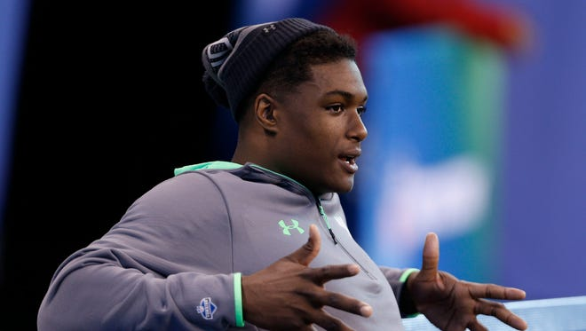 The Colts took a look at Myles Jack with the 18th pick in the NFL Draft.