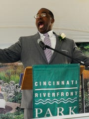 Cincinnati Parks Director Willie Carden at an event