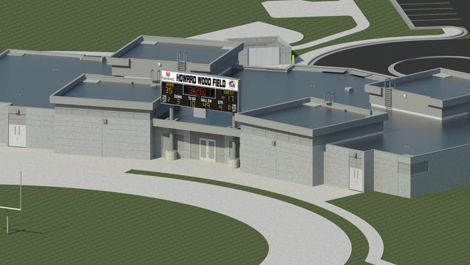 A design rendering of the Howard Wood field house, scheduled to open in 2017.