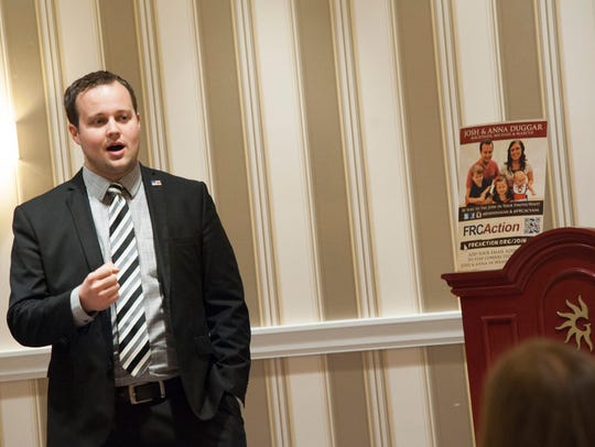 Josh Duggar speaks during the 42nd annual Conservative