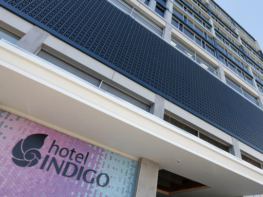The recently opened Hotel Indigo is in a renovated,