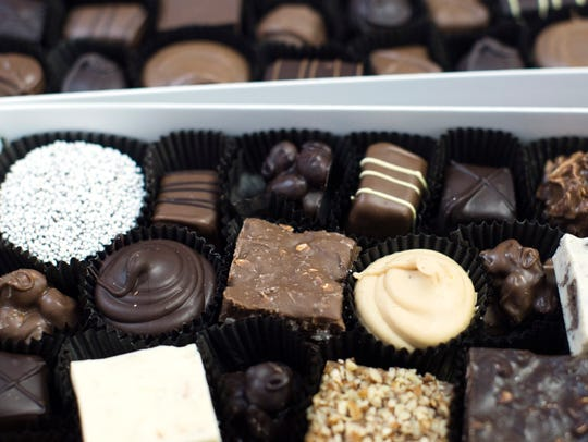 A box of assorted chocolate at Sydney Bogg's Sweet