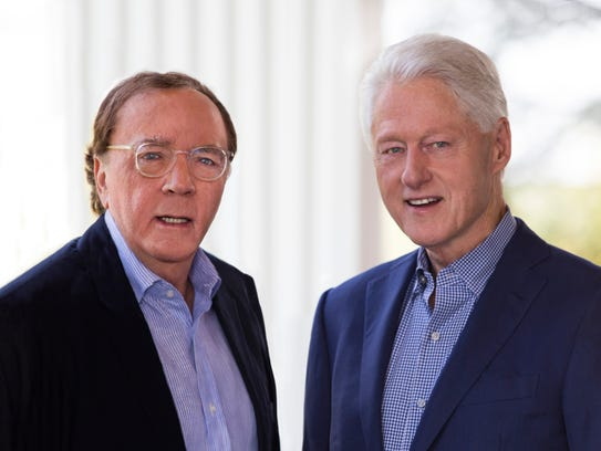 Former president Bill Clinton, right, and James Patterson